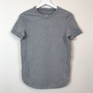 Lululemon All Time Tee Heathered Gray Size 2